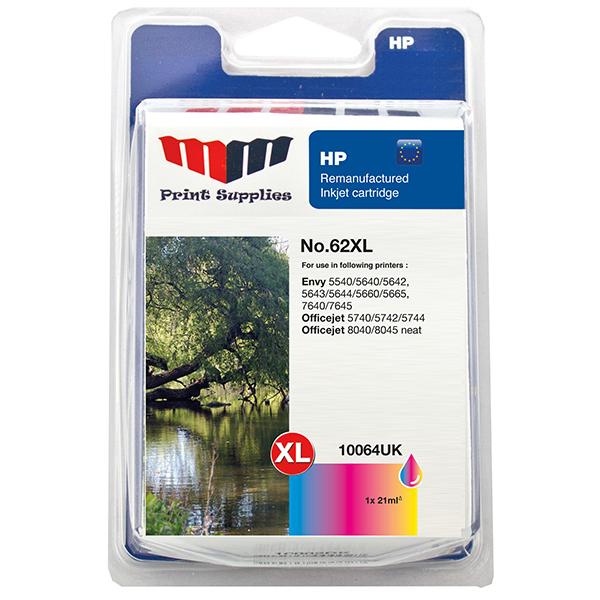 MMPS Color Inkjet Cartridge No.62XL (C2P07AE)