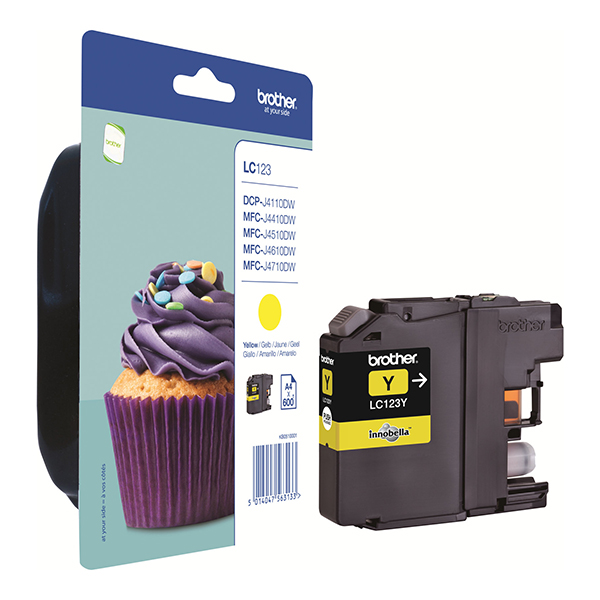 Brother Yellow Inkjet Cartridge (LC123Y)